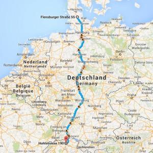 Von der Flensburger Str. 55, 24837 Schleswig in die Hohlstrasse 190, 8004 Zürich