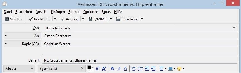 Crosstrainer Ellipsentrainer 2
