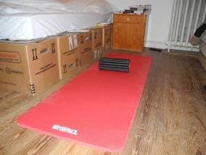 Die Trainingsmatte ist das erste Fitnessgerät des Tages