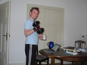 Christian, Kaffee und Krafttraining