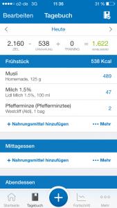 Apps zum Kalorienzählen MyFitnessPal