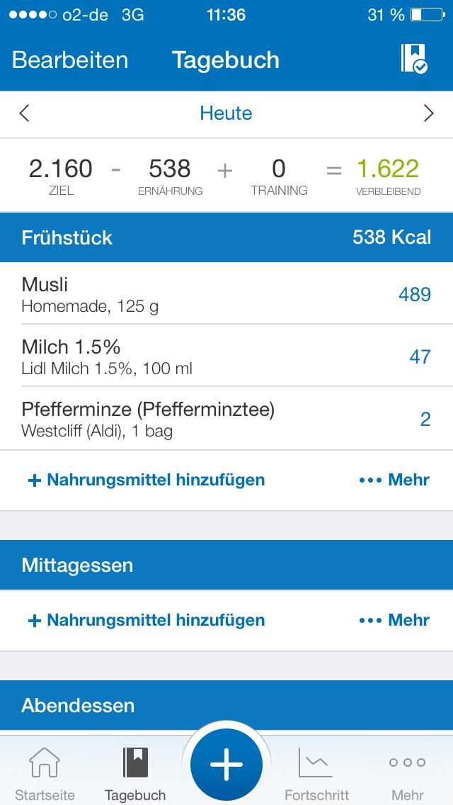 App Kalorienzählen