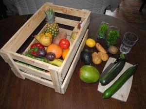 Zurück vom Markt, bzw. meinem anatolischen Obst- und Gemüsefachmann für das südliche Obst