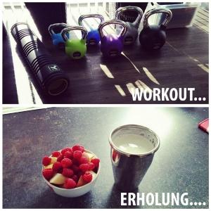 Workout und Erholung